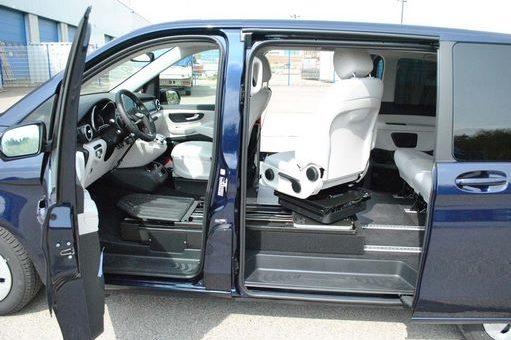 Siège pivotant dans une voiture