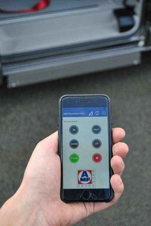 Application mobile pour commander la rampe
