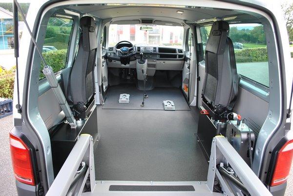 Vue intérieure de la VW T6