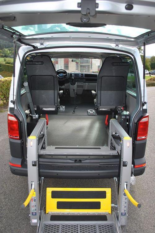 Vue arrière de la VW T6