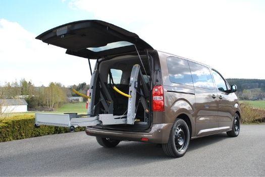 Ouvre-hayon pneumatique avec commande - Peugeot Traveller