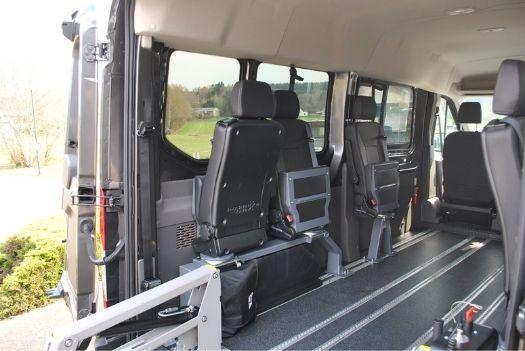 Transport collectif - Ford Transit - Intérieur